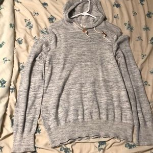 H&M Casual heather gray hoodie